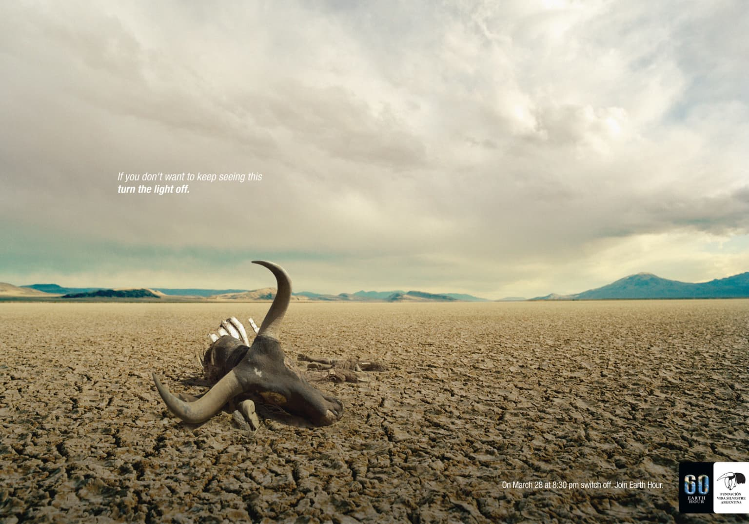 "WWF's 60 Earth Hour: ""Turn off the light"""