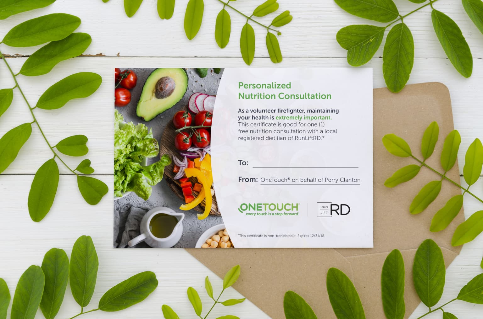 OneTouch® Nutrition Certificate