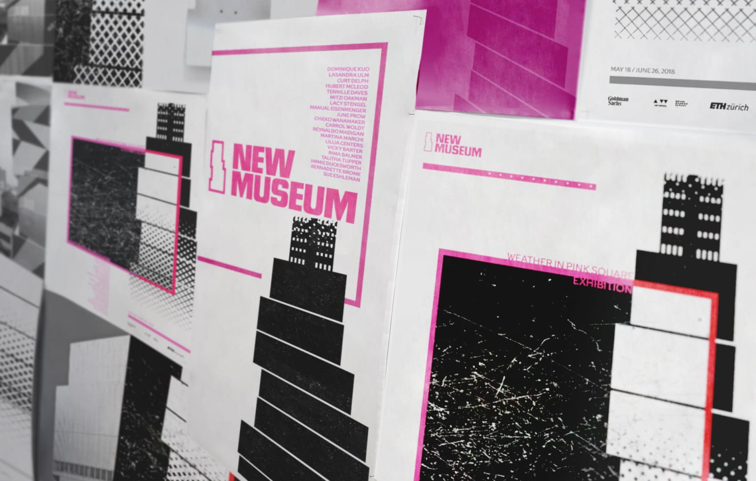 Weather In Pink Square Posters