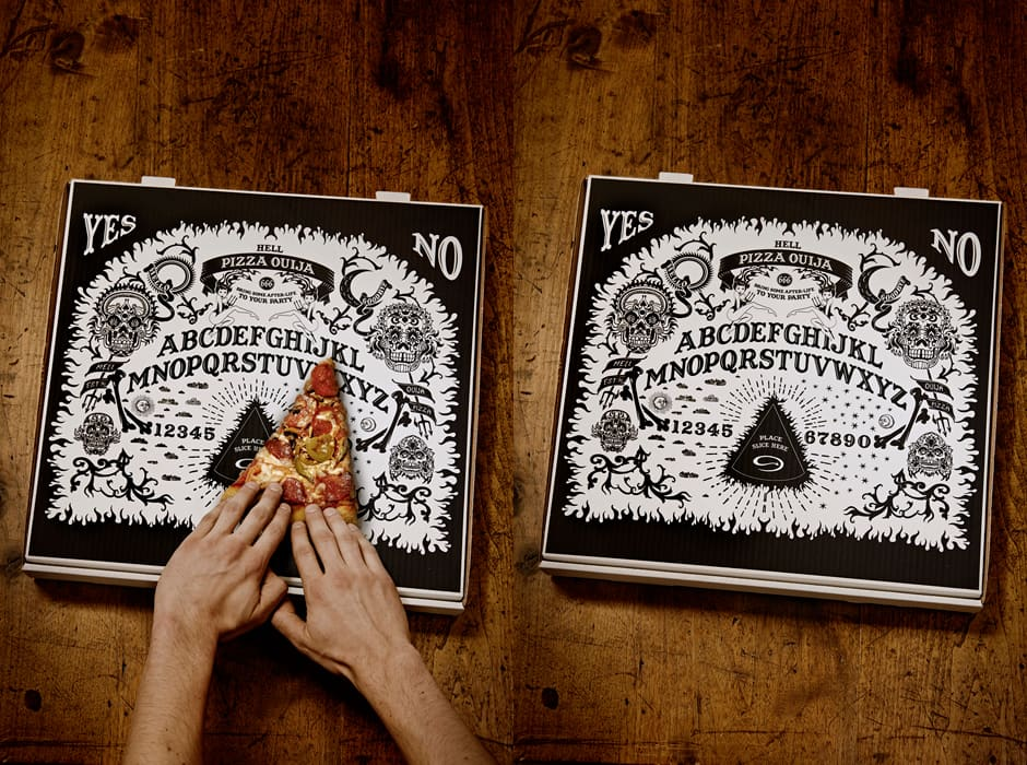 Ouija Board Pizza Box