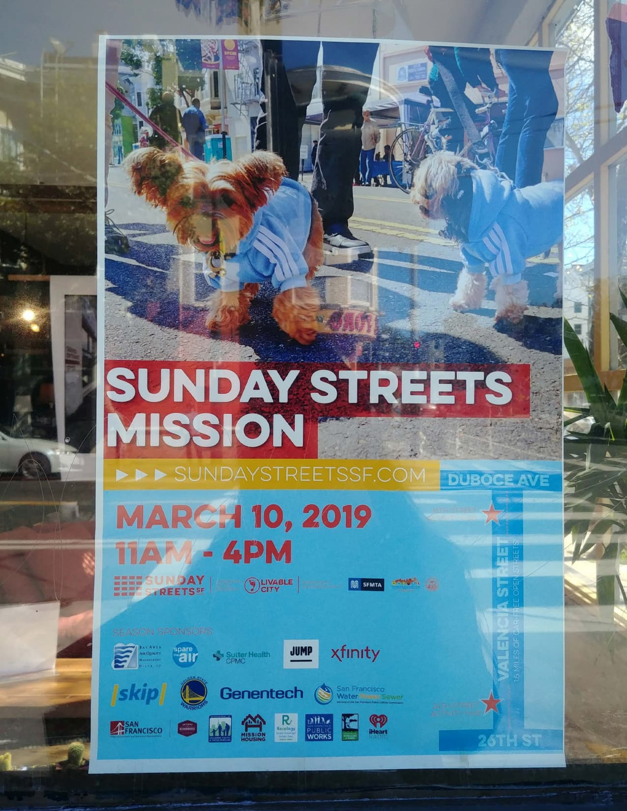 Sunday Streets San Francisco: templates for posters, flyers and stamp collection