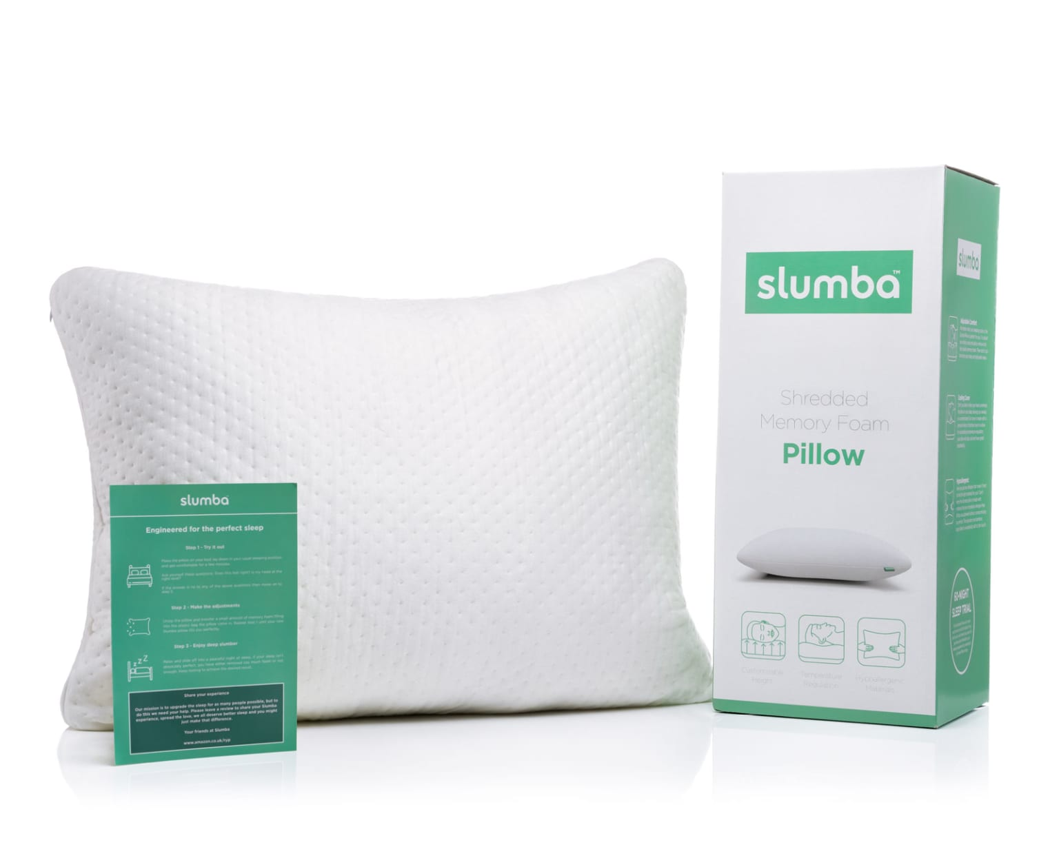 Slumba Pillow - commercial product photography