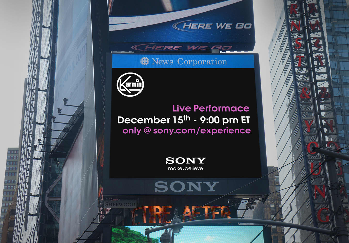 Sony Entertainment Network Times Square Billboard