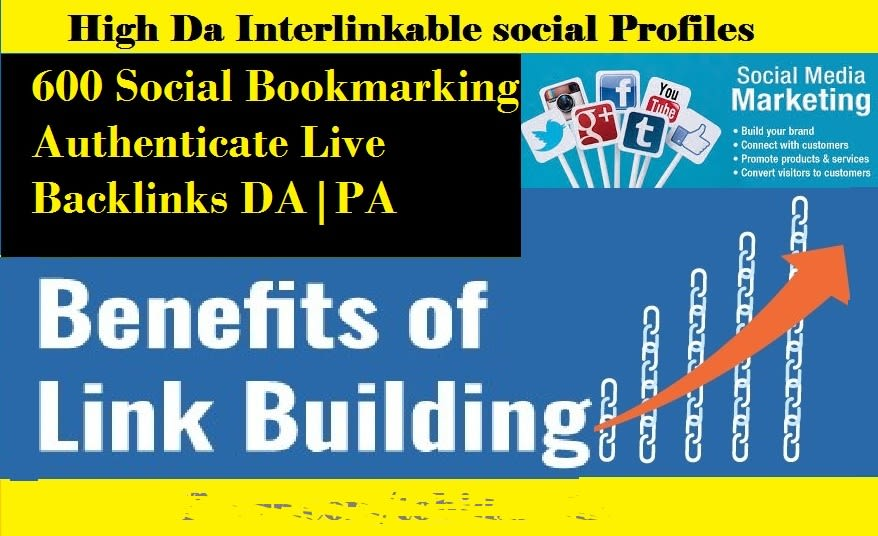 I will create 700 interlinkable live social profiles for your business