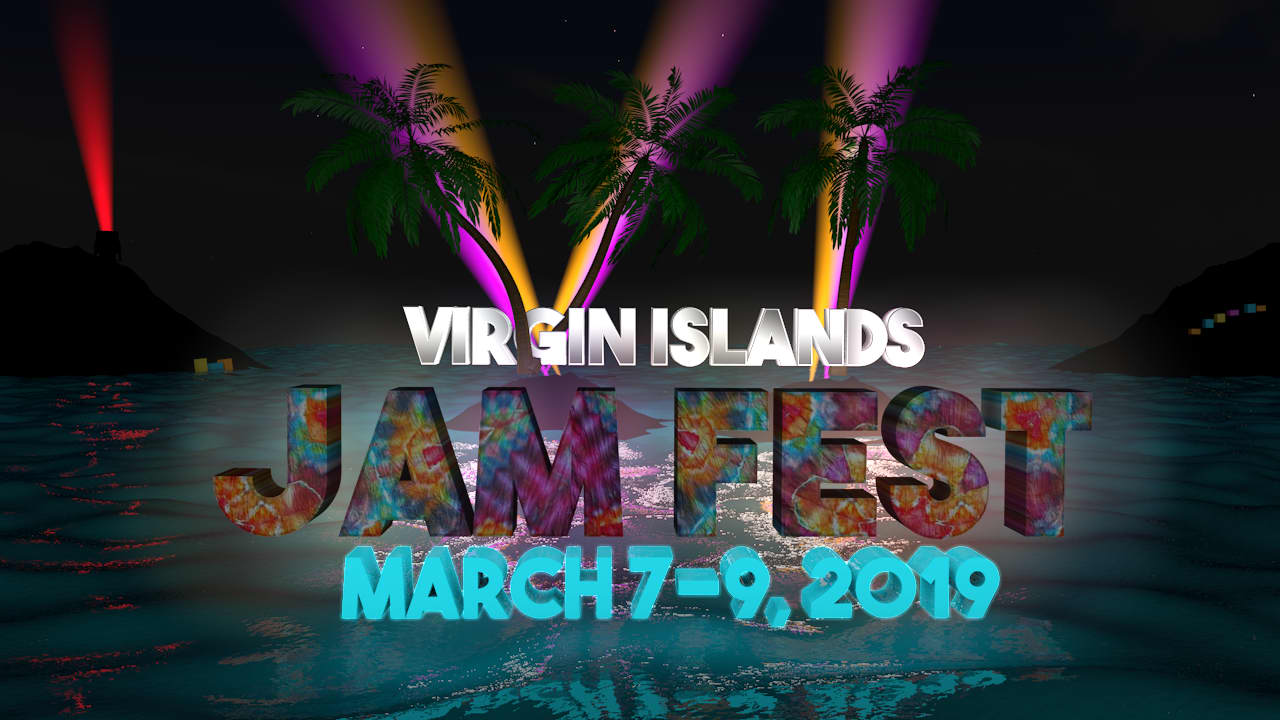 3D and animated poster art for Virgin Islands Jam Fest
