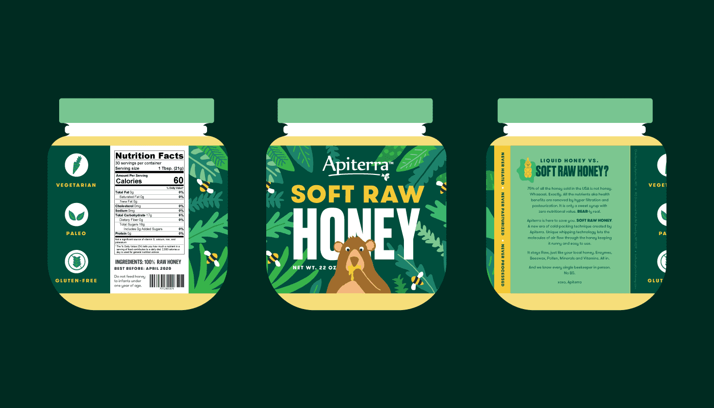 Apiterra Soft Raw Honey