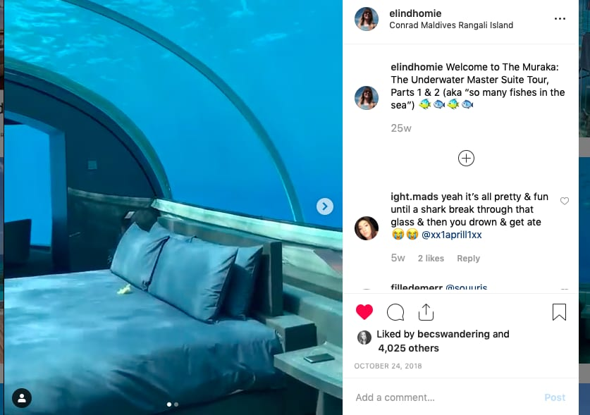Viral social media video: Underwater suite in the Maldives