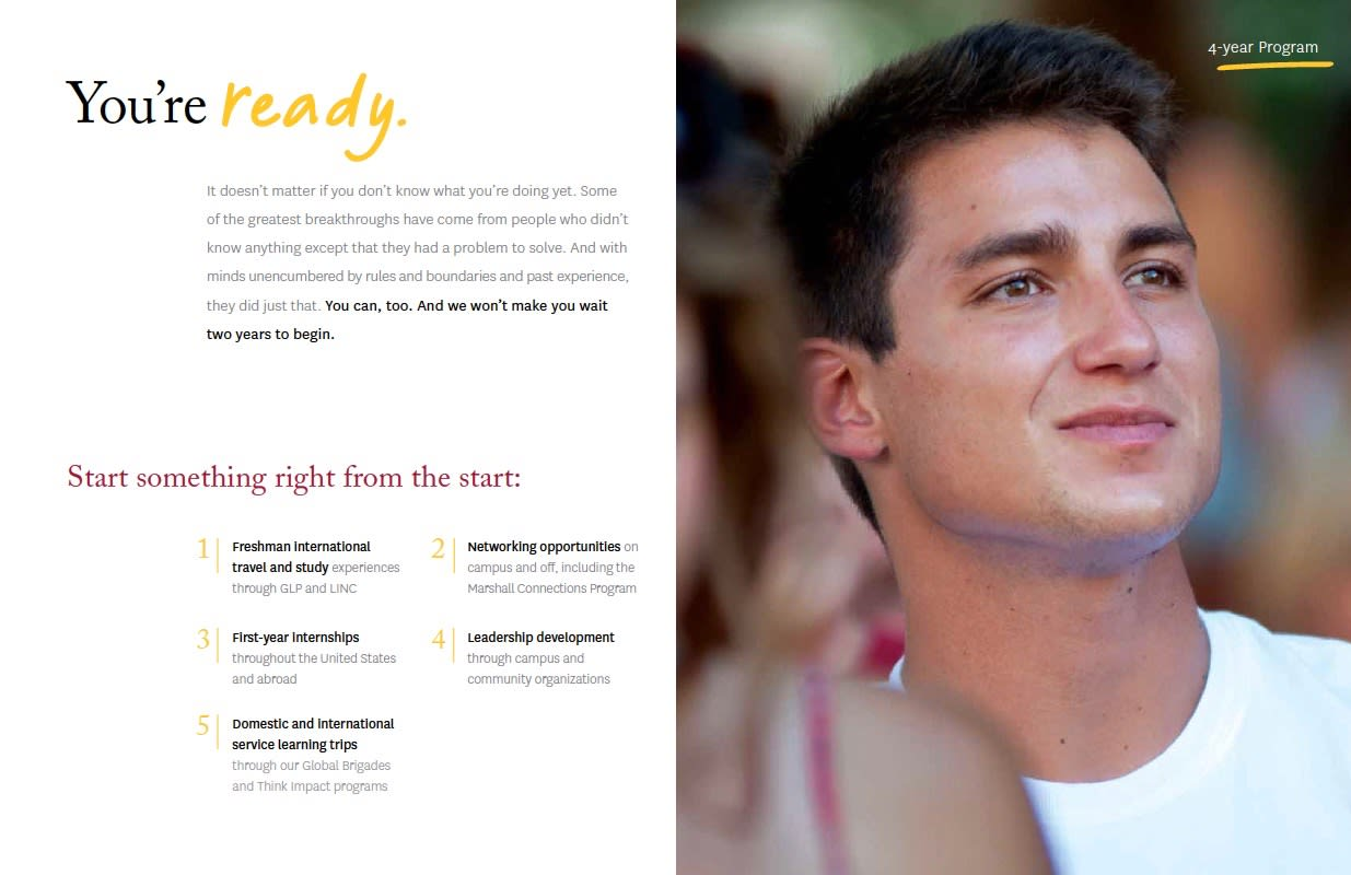 USC Marshall School of Business Viewbook