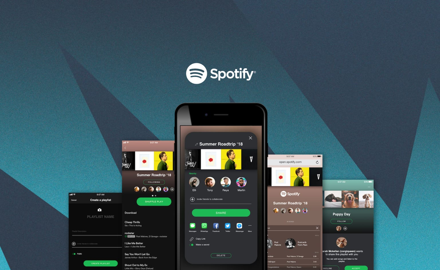 Spotify Sharing Feature