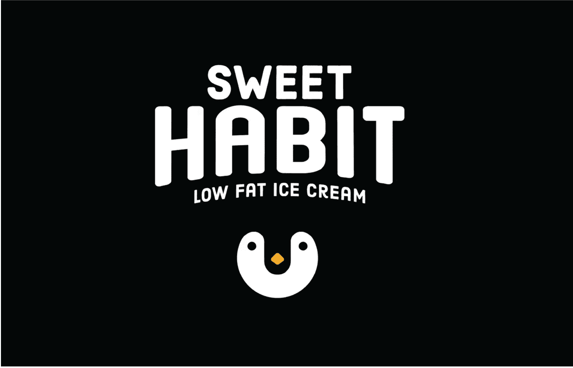 Sweet Habit Ice Cream Packaging and Branding Design
