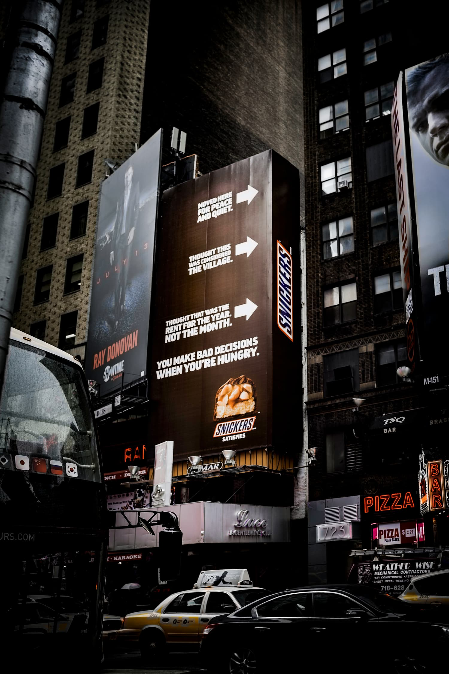 Snickers' Billboard. Times Square, NYC.