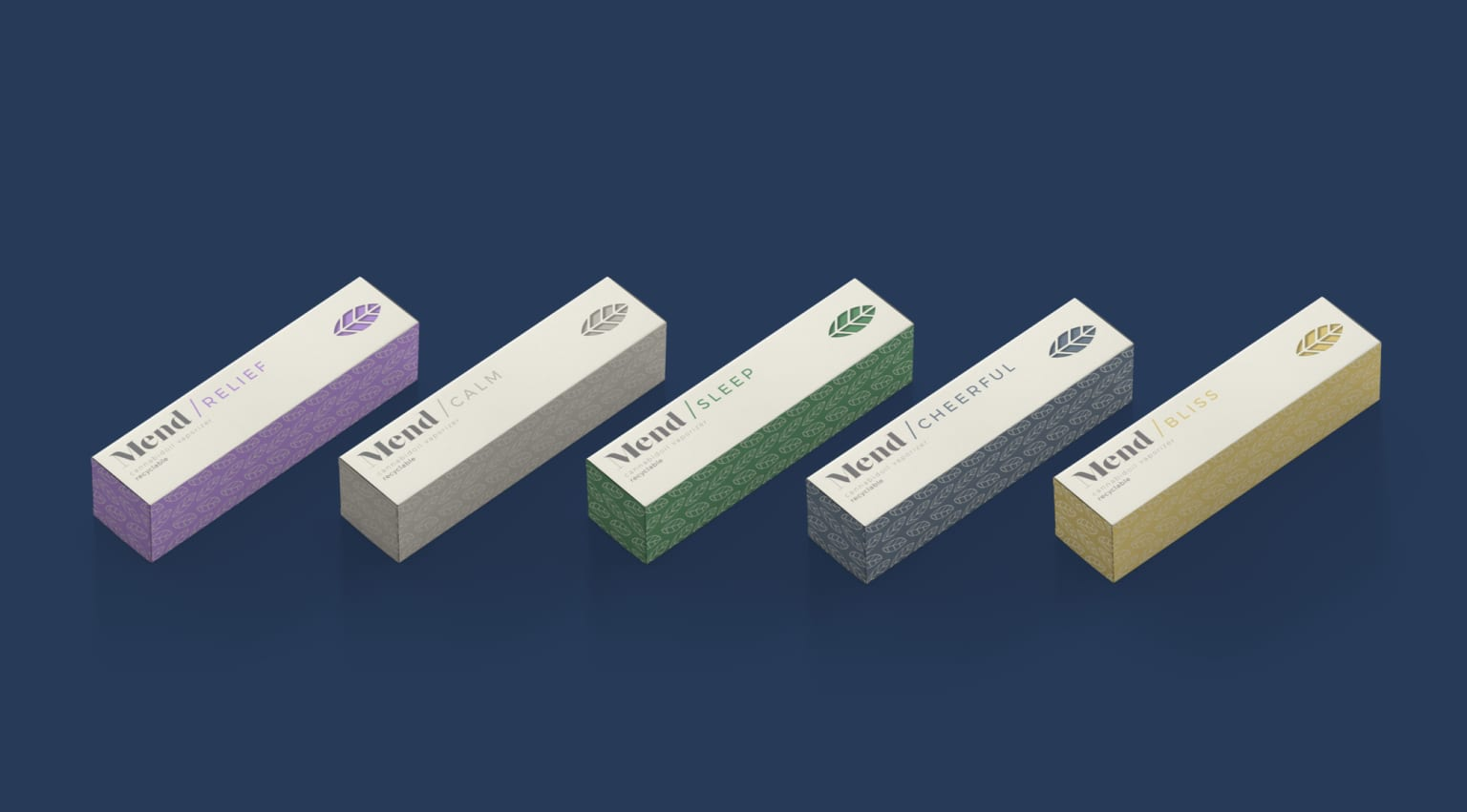 MEND Nutraceuticals - Medical Cannabis Brand + Packaging