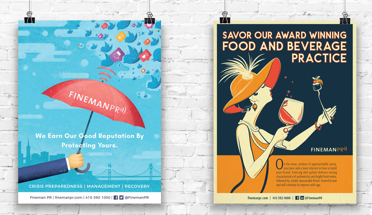 Fineman PR- Posters, Ads + Collateral
