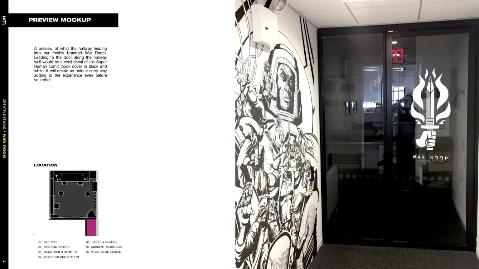 War Room - branding and space redesign