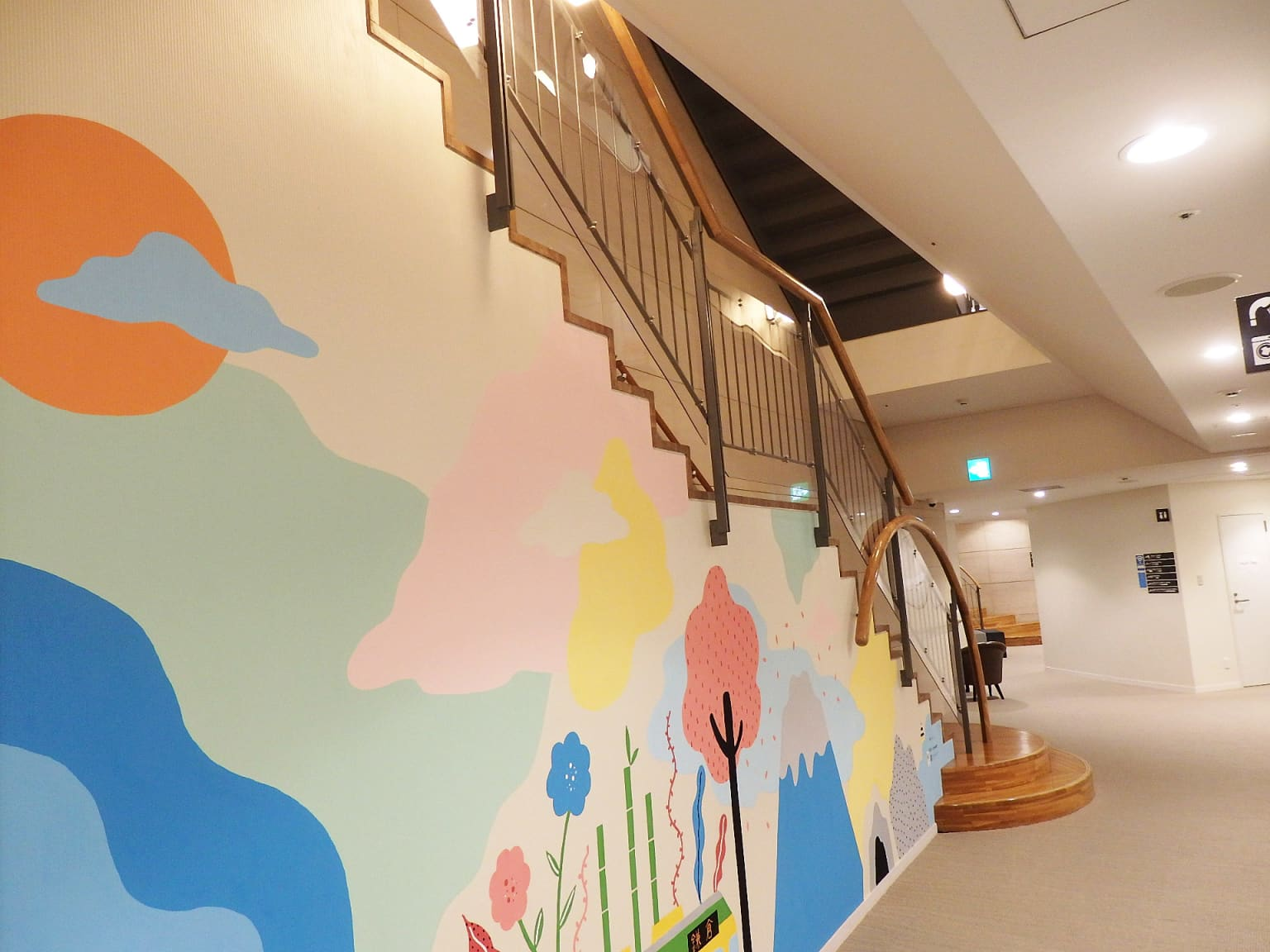 Wall Mural for WEBASE Hostel
