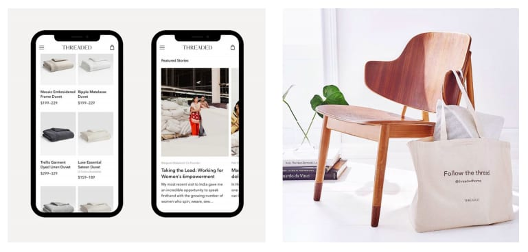 THREADED ecommerce brand strategy, naming, web editorial