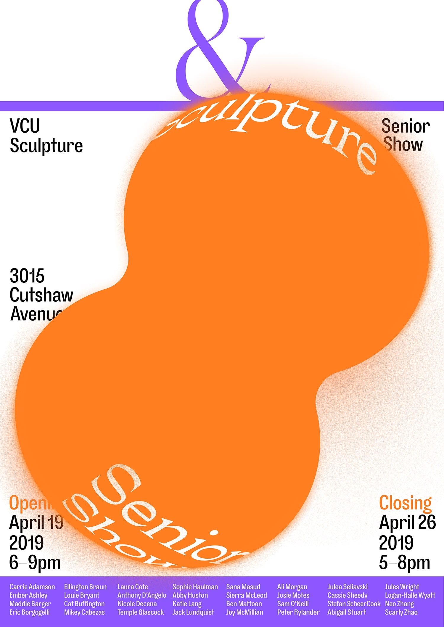 VCU Sculpture Thesis Show promotional materials