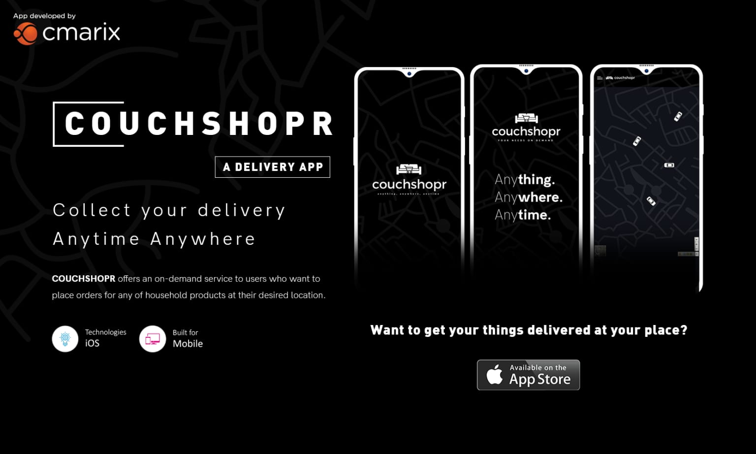 CouchShopr | An On-Demand Household Products iPhone Delivery App