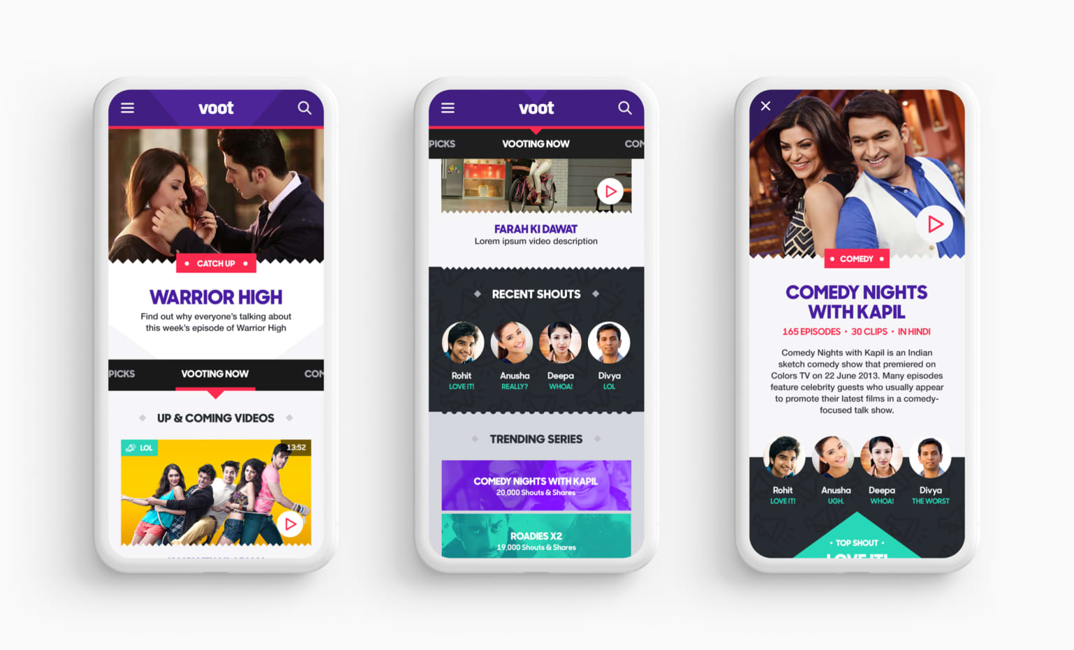 Voot – Video Streaming Product