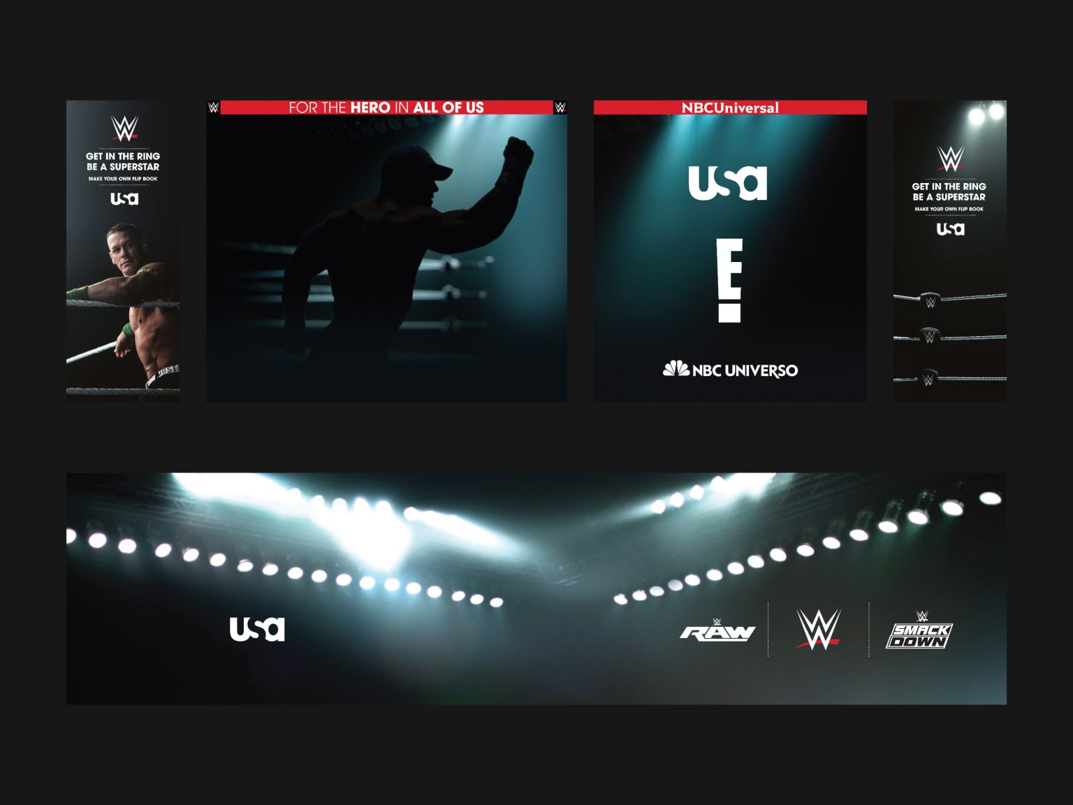 WWE Raw // WWE Smackdown // USA Network // On-Air Promo Packaging