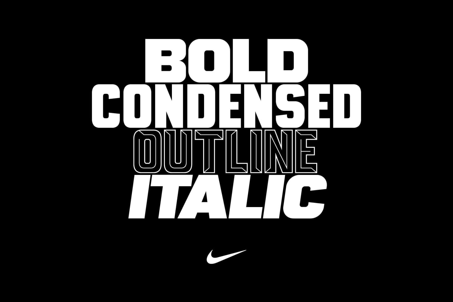 Nike Football - NFP typeface