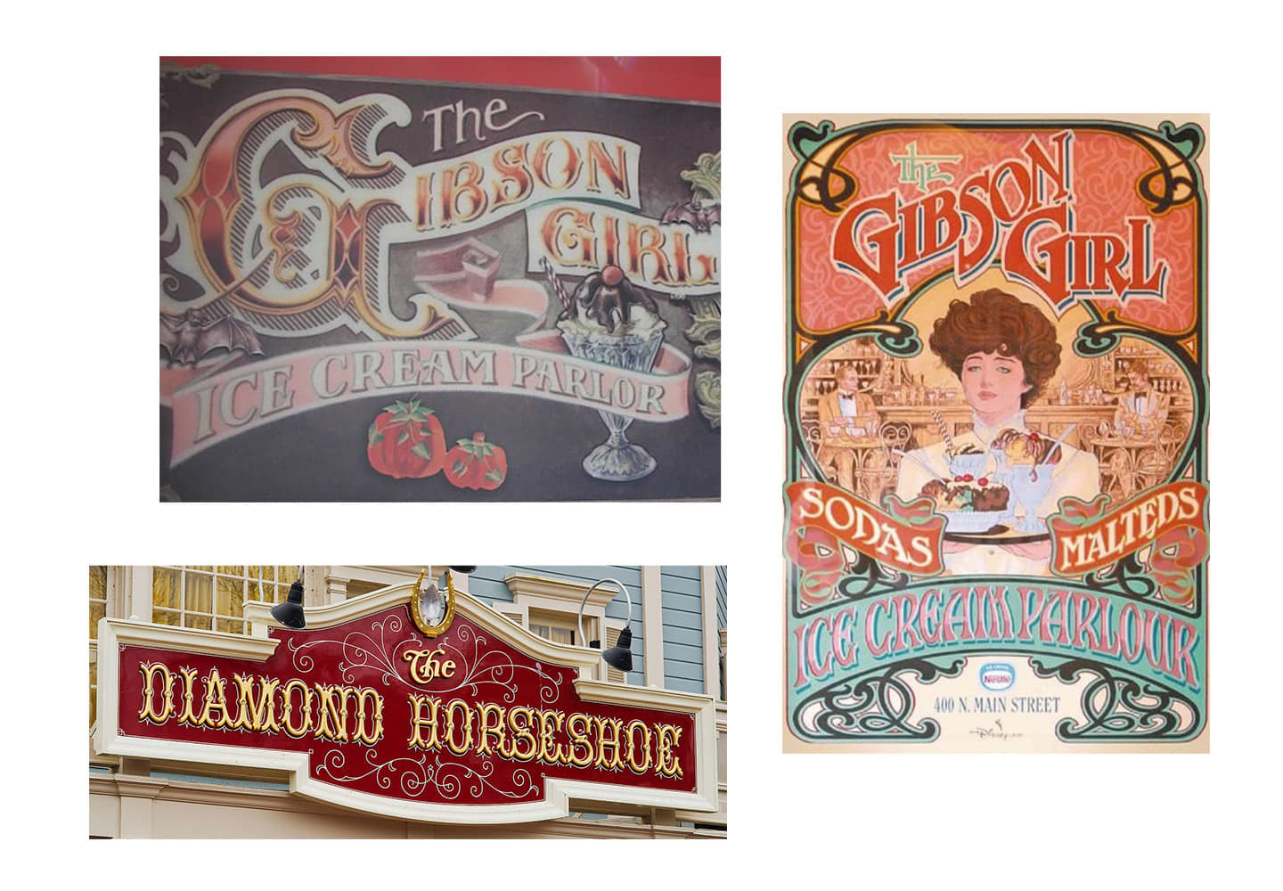 Ice Cream Parlor Hand-Painted Sign
