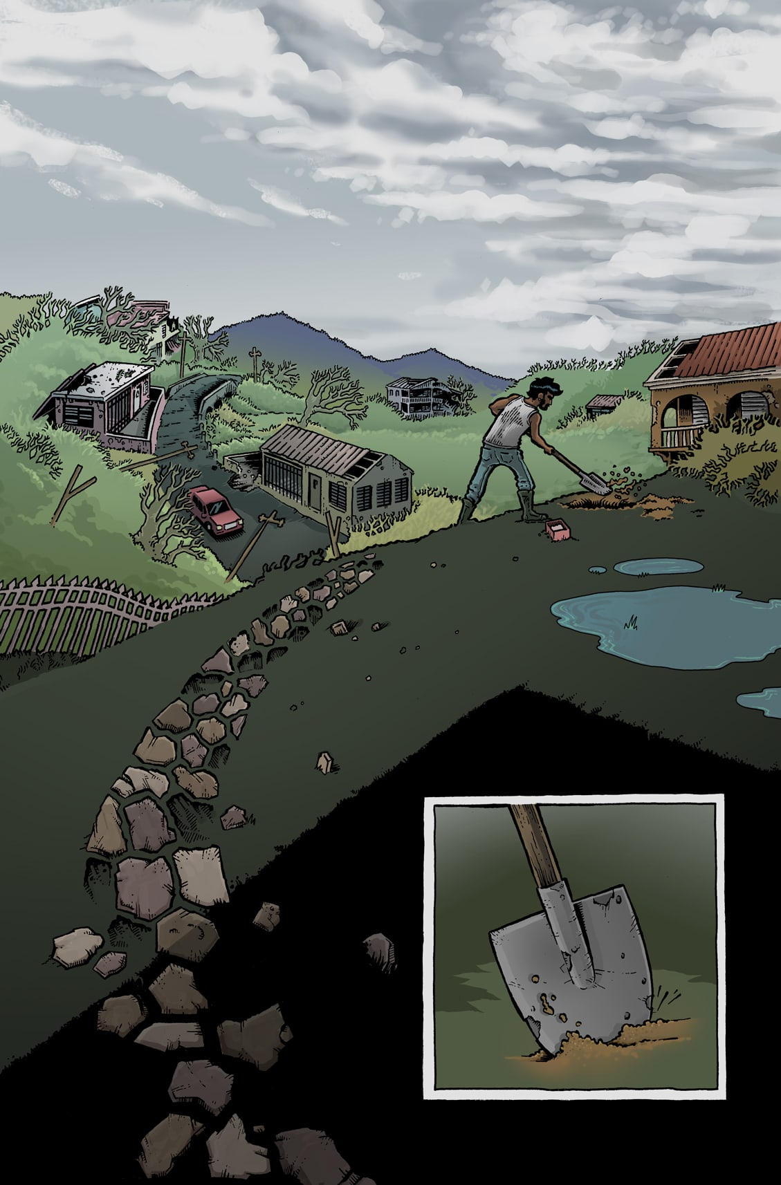"""El Pitirre"" short story for the Ricanstruction Graphic Novel"