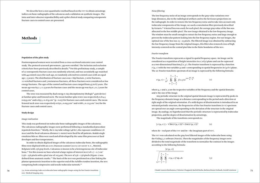 Medical and scientific textbook typesetting