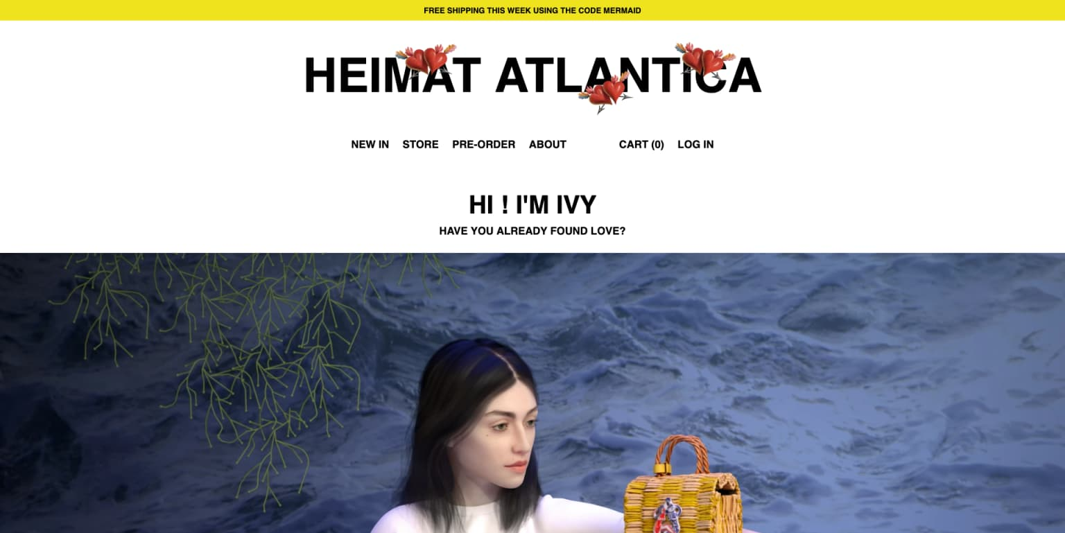 Website for Heimat Atlantica