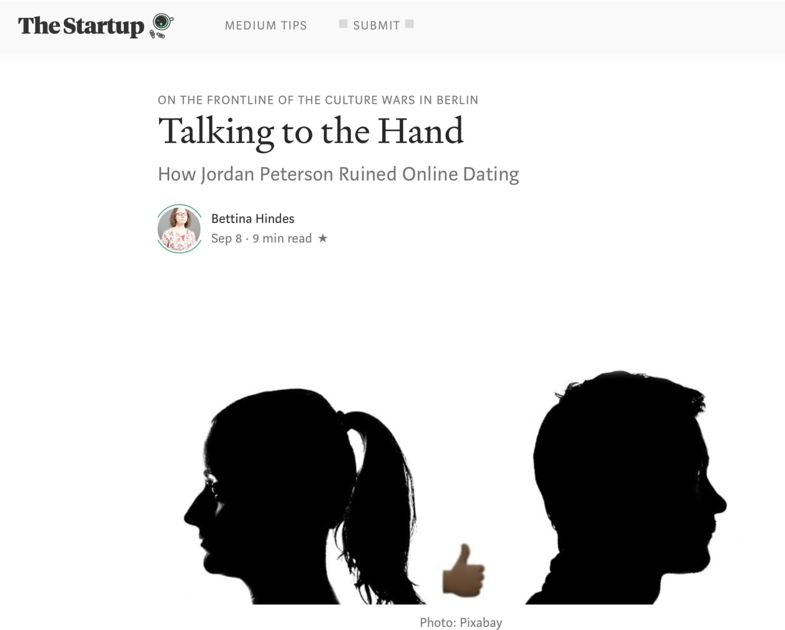 My article Talking to the Hand was featured in The Startup, a Medium.com Publication