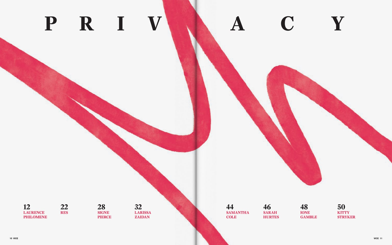 VICE Magazine: The Privacy and Perception Issue