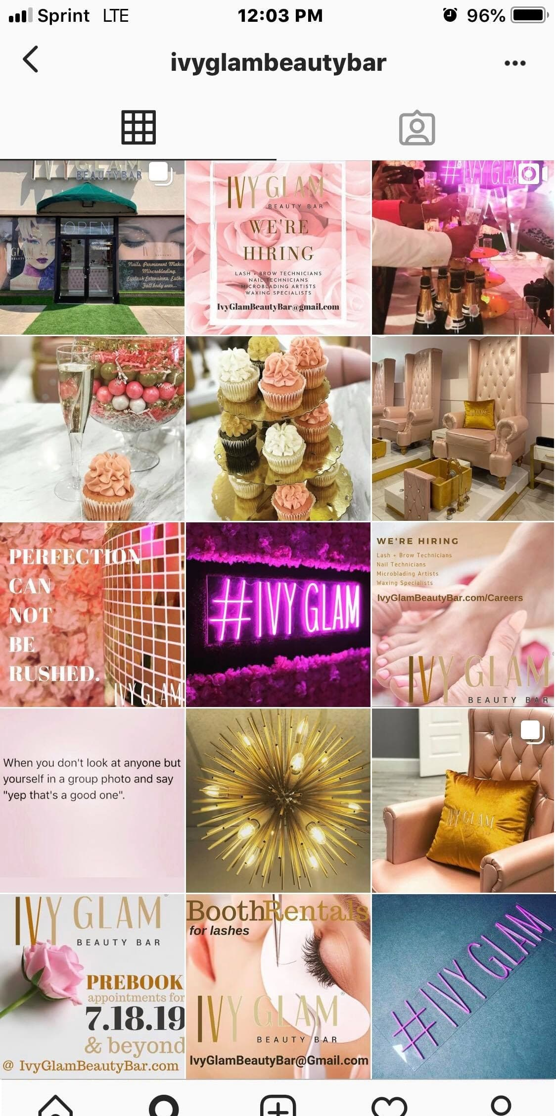 Business, Marketing & Social for Ivy Glam Beauty Bar & Academy