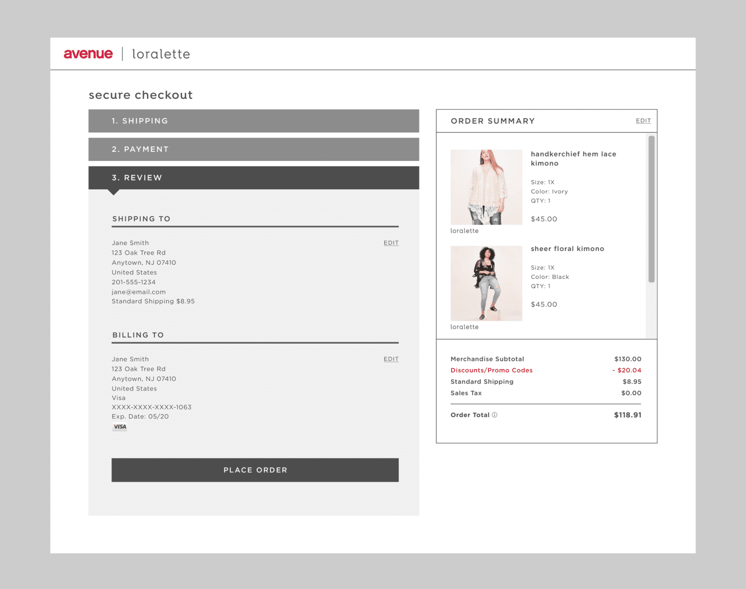 Unified Checkout Design