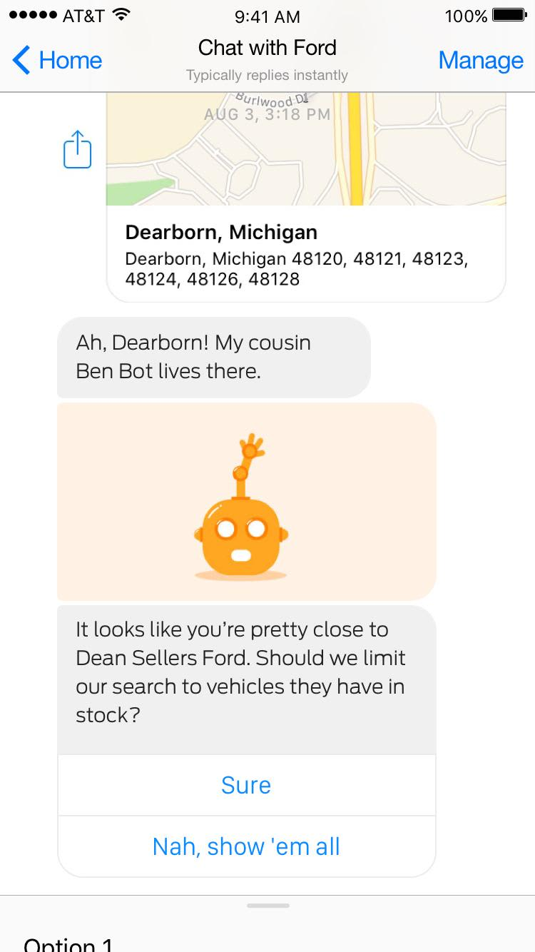 FordChat bot