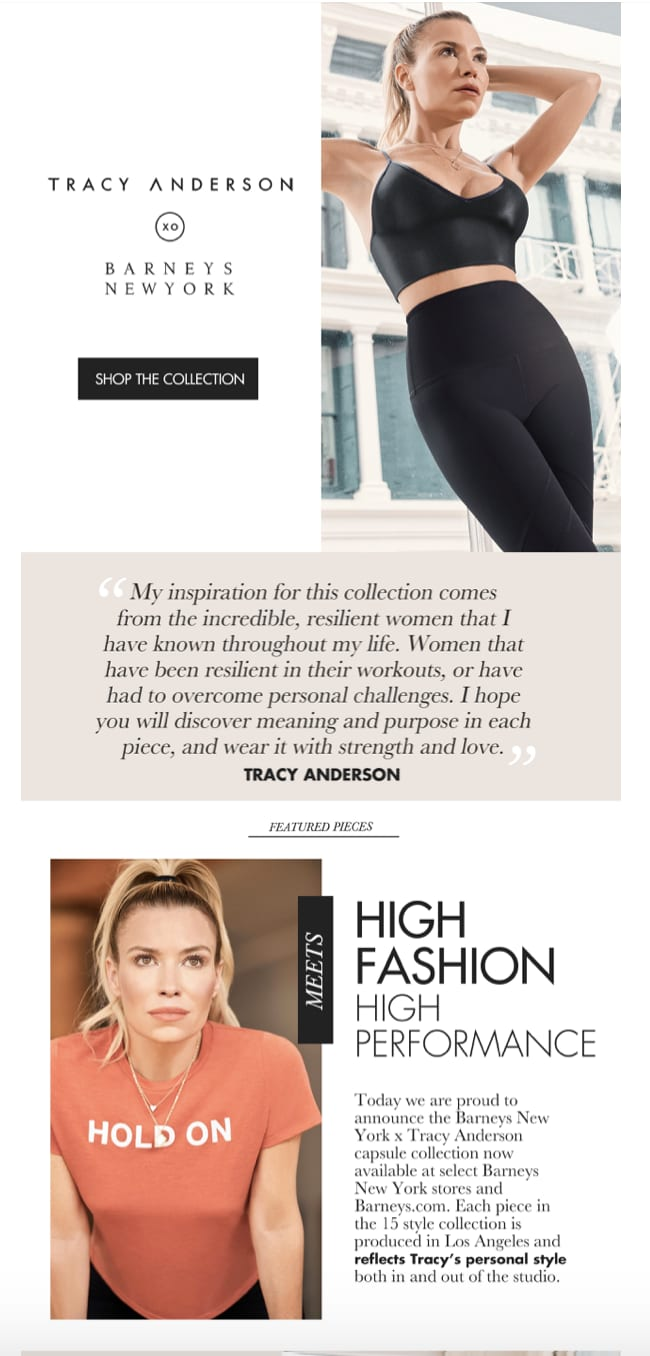 Barney's New York x Tracy Anderson Method Newsletter x Promo Video