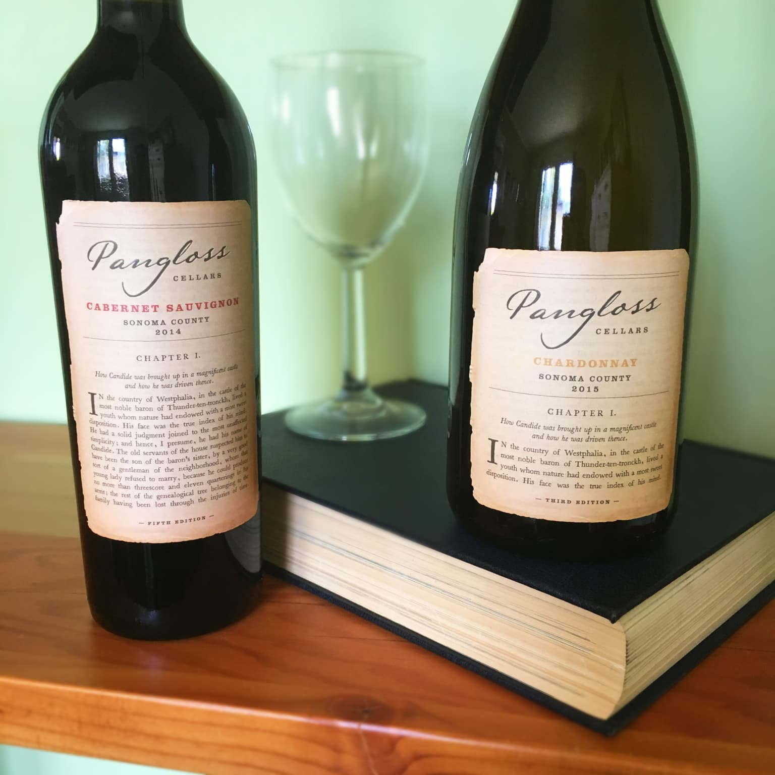 Pangloss wine labels