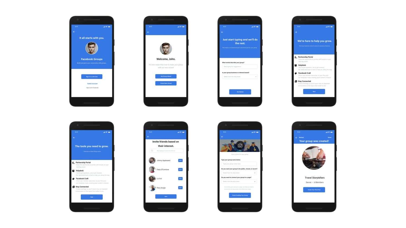 Rethinking Facebook's group app sign-up flow