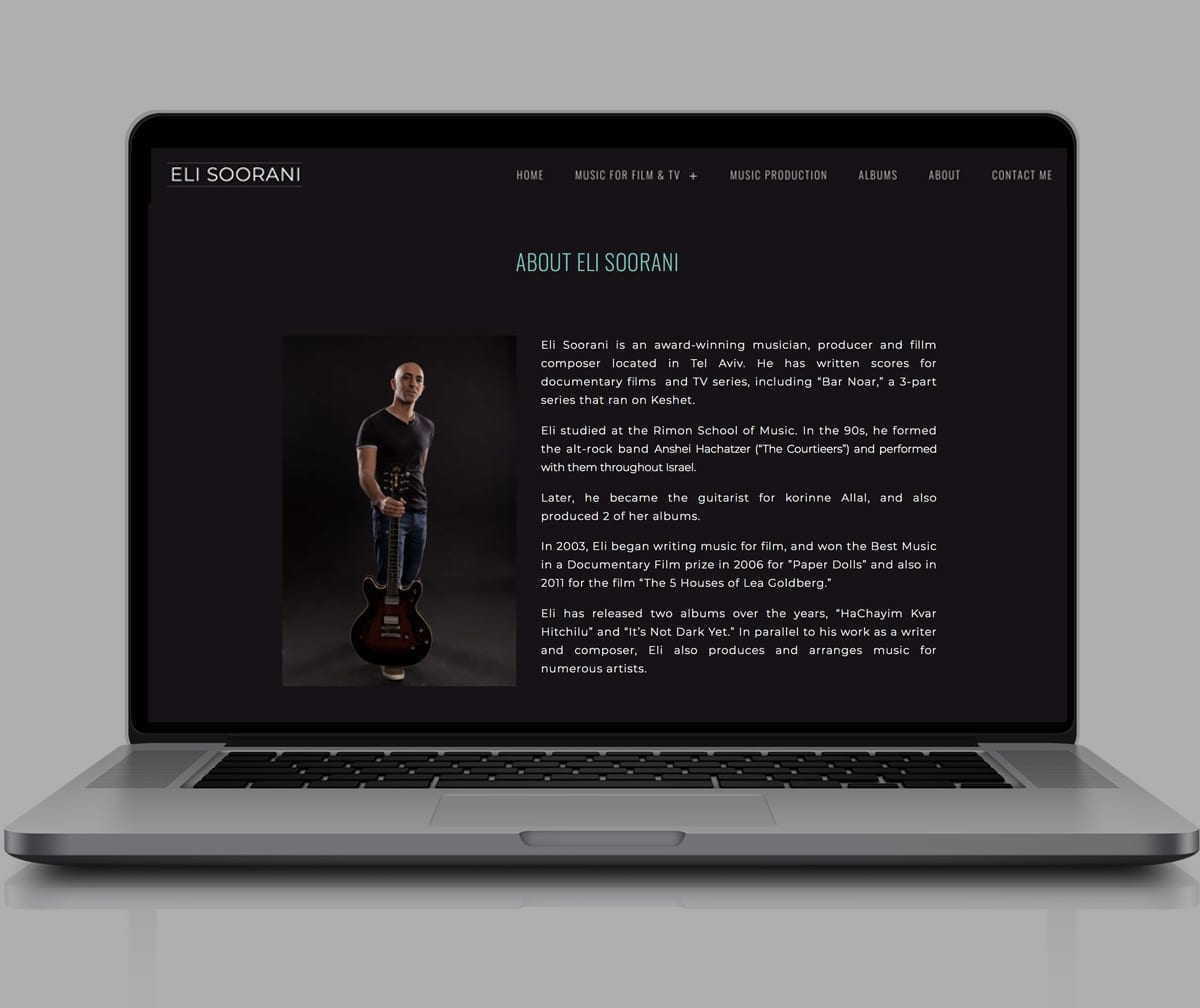 EliS | A Website for A Music Producer