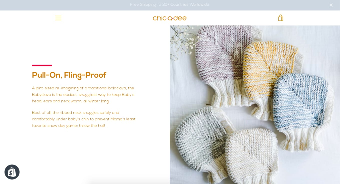 CHIC·A·DEE KNITS brand, site & social