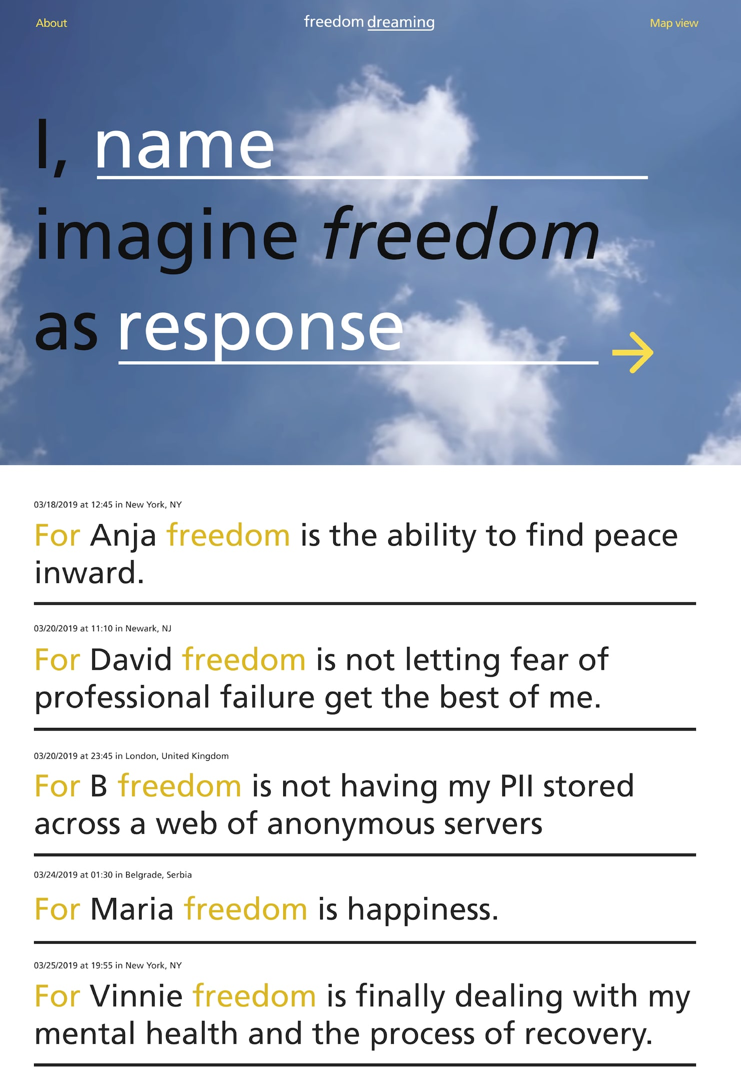 Tools of Introspection: Freedom Dreaming