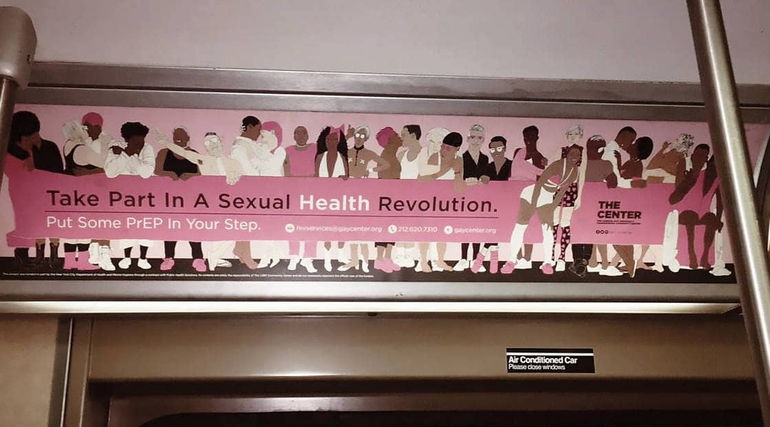 New York City MTA Subway Posters for LGBTQ The Center