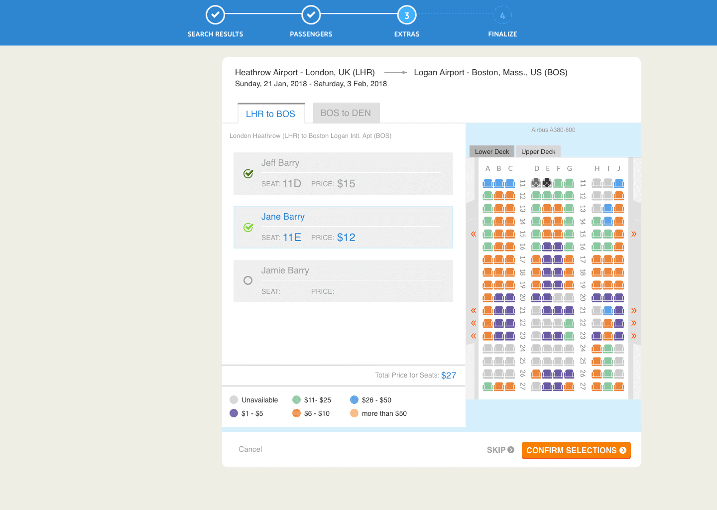 Product Design for an Airline Seat Map