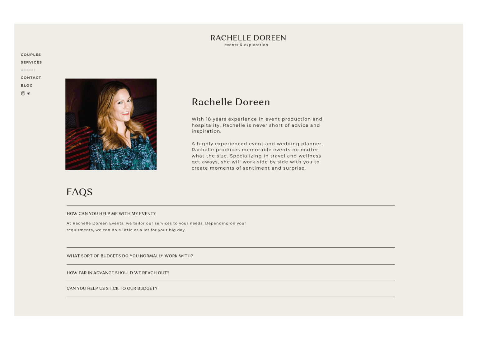Rachelle Doreen Events