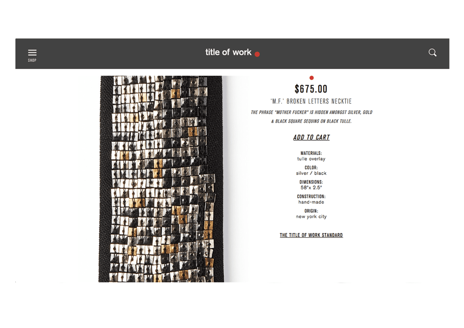 Title of Work