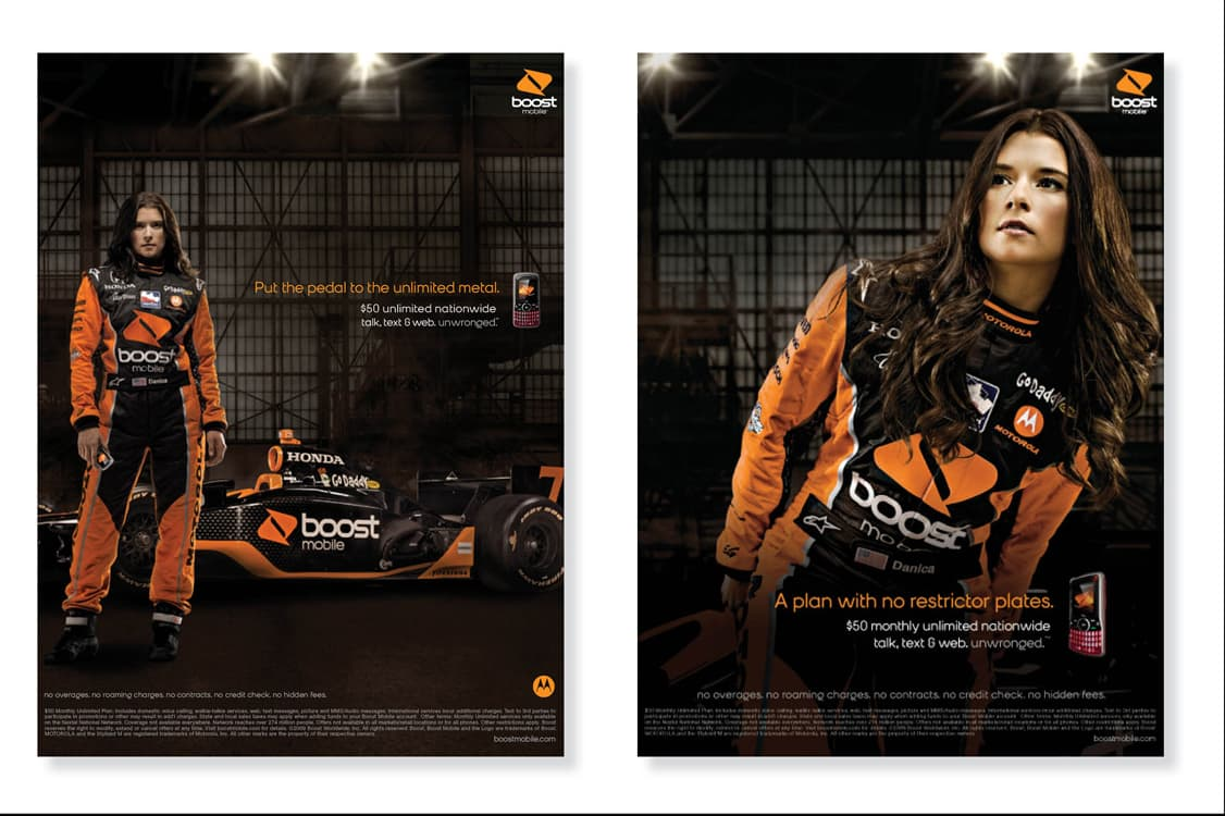 Boost Mobile Print Ads