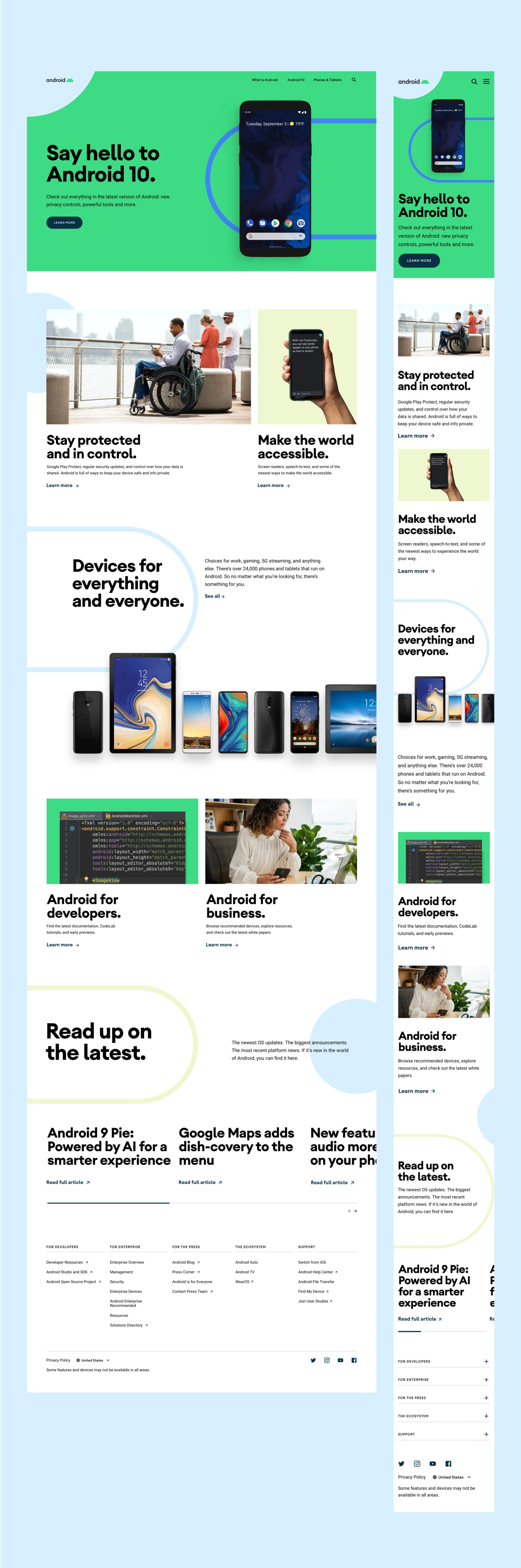 Android.com Homepage Redesign