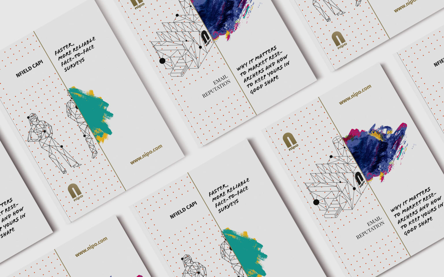 Nipo Software | Brochures, vector illustration & branded materials