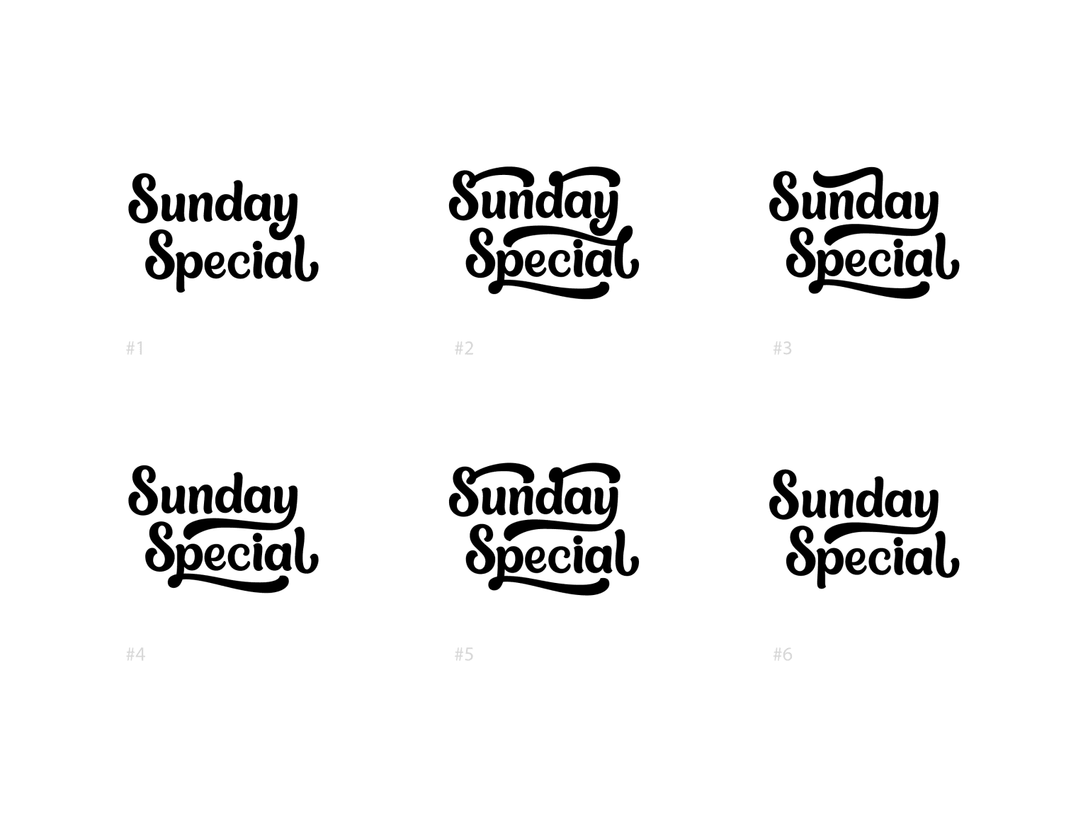 Sunsay Special Custom wordmark