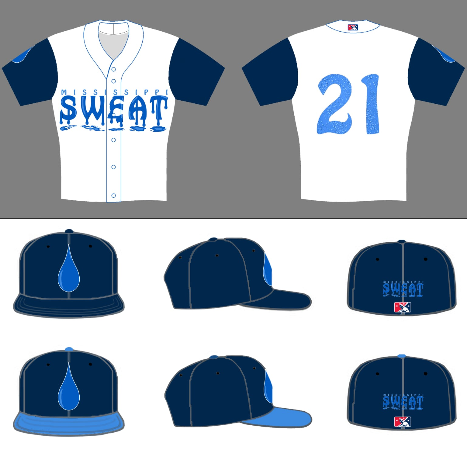 Mississippi Sweat (One day team re-brand) Jersey