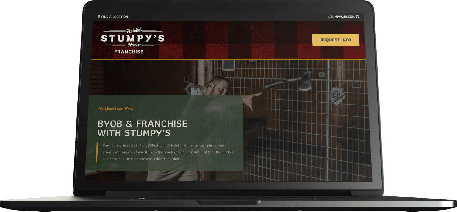 Stumpy's Hatchet House | Director of Design & Project Operations; Principal Design Lead, Product, Marketing, UX; Marketing & Tech Consultant.